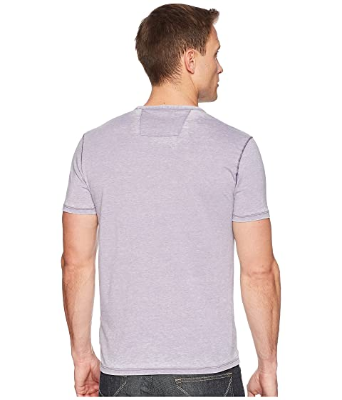 Largest Supplier Cheap Price New Styles John Varvatos Star U.S.A. Short Sleeved Crew Neck w/ Garment Burnout K2683U1B Iris Clearance Cheap Real Store Particular DTMvS