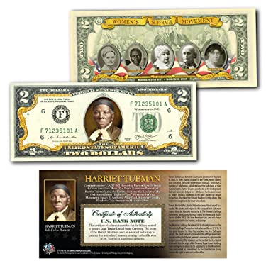 HARRIET TUBMAN * World Release * Official Genuine Legal Tender Colorized $2 Bill