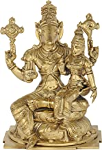 Hayagreeva with Sri Lakshmi - Bronze Statue