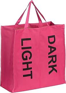 Premier Housewares 2-Section Laundry Bag - Hot Pink