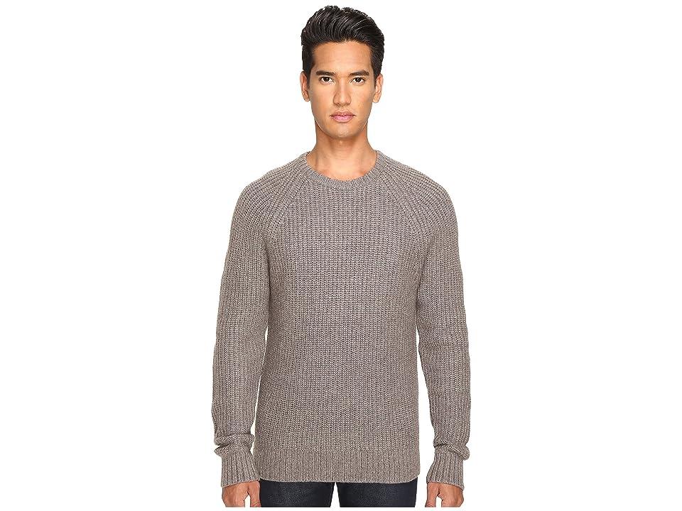 Jack Spade Shaker Stitch Ribbed Crew Neck Sweater (Mink) Men