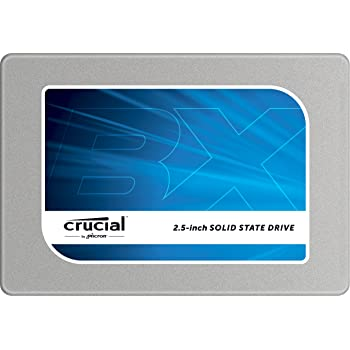 """(OLD MODEL) Crucial BX100 500GB SATA 2.5"""" 7mm (with 9.5mm adapter) Internal Solid State Drive - CT500BX100SSD1,Silver"""