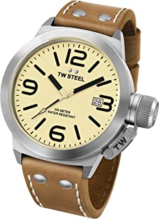 e4fc3c7516 TW Steel Men's CS11 Analog Display Quartz Brown Watch