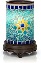 VP Home Mosaic Glass Fragrance Warmer (Sapphire and Gold)