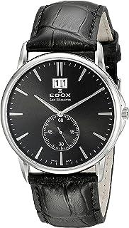 EDOX - Reloj Analógico para Unisex de Cuarzo con Correa en Cuero 64012 3 NIN