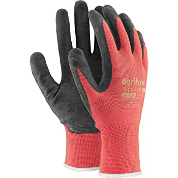 Mechanic Size 9//L, Blue, NT2110 Construction Builder Gloves General Purpose Vgo 10Pairs Nitrile Coated Mens Work Gloves and Gardening Gloves