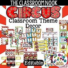 Circus Themed Classroom Decor (Printable and Editable)