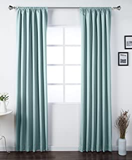 AmazonBasics Room Darkening Blackout Window Curtains with Tie Backs Set, 42