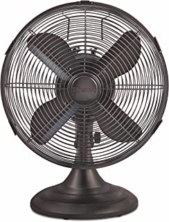 HOLMES Heritage Collection Table Fan, 12-inch, Brushed antique nickle finish