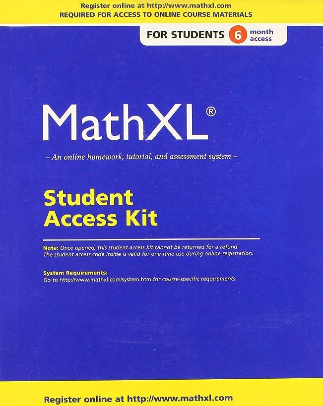 MathXL Standalone Access Card (6-month access)