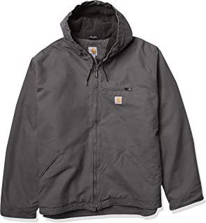 Men's Relaxed Fit Washed Duck Sherpa-Lined Jacket