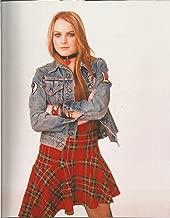 Freaky Friday Lindsay Lohan wearing a plaid dress & jean jacket 8 x 10 inch Costume Test Photo #1 - 004
