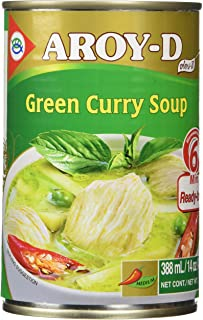 AROY-D Authentic Ready-Made Thai Green Curry Soup, 14 Ounce - Just Add Meat