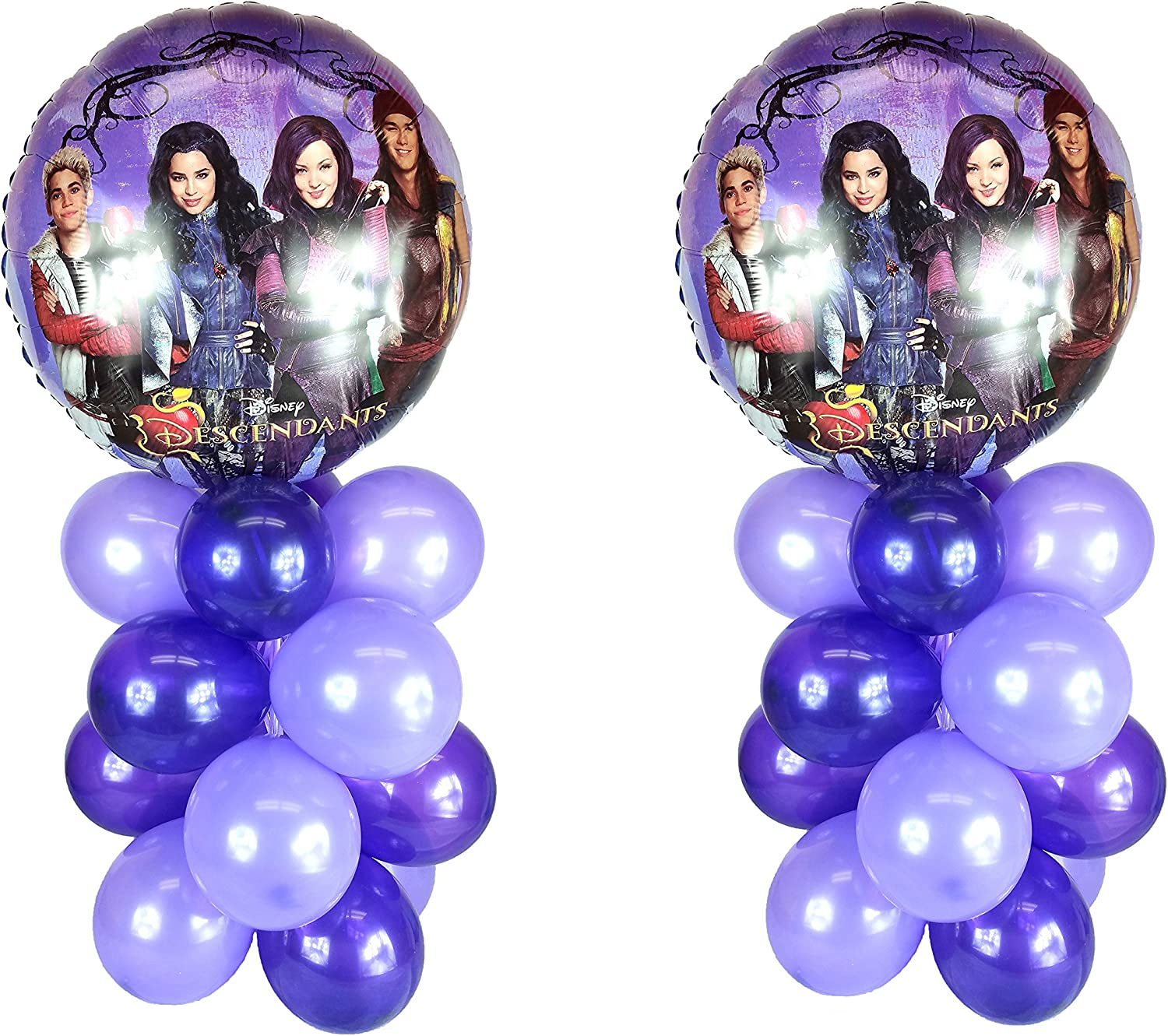 The Descendants Balloon Table Display Birthday Party  AIR FILL, NO HELIUM NEEDED   by Party Supplies