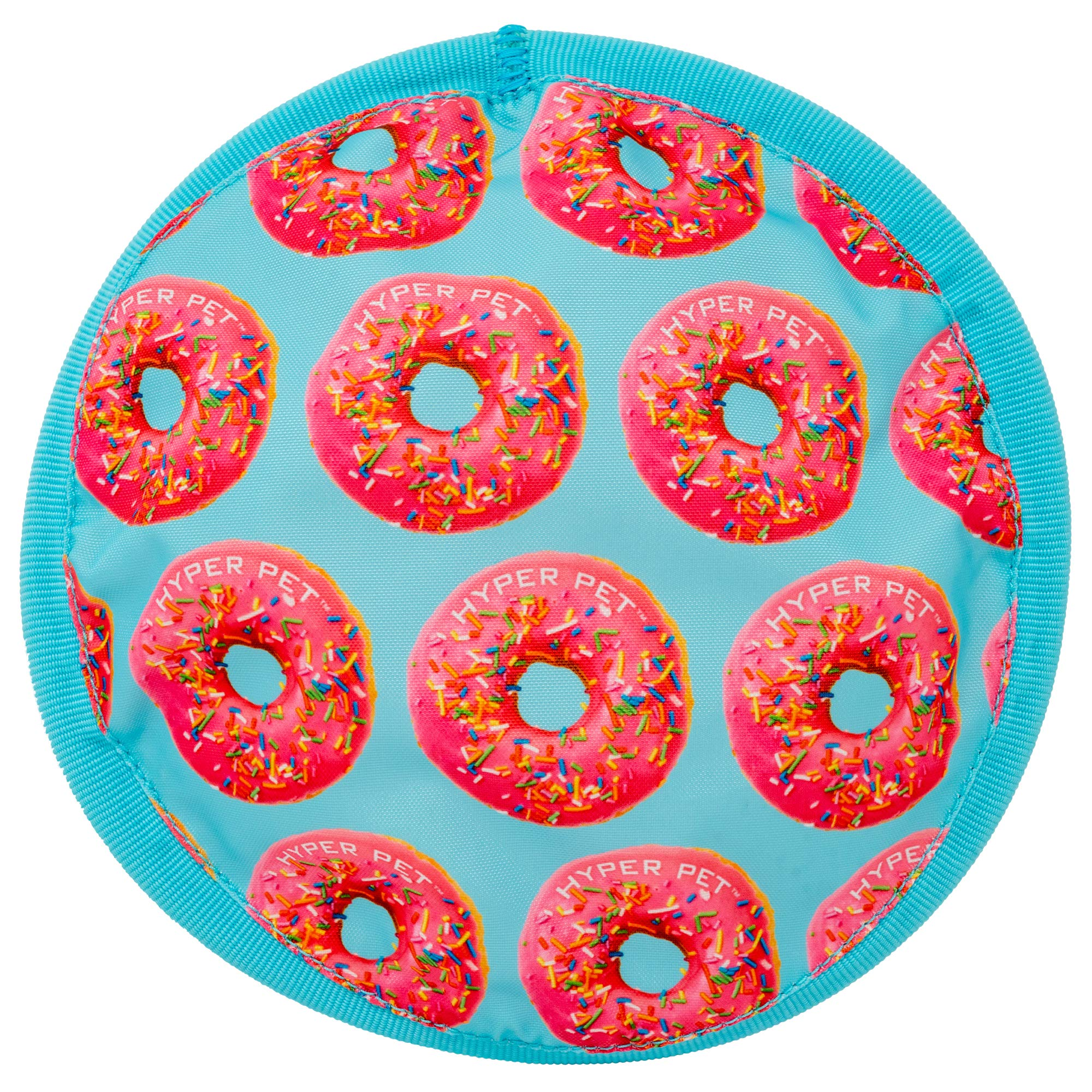 """Hyper Pet Flippy Flopper Dog Frisbee Interactive Dog Toys [Flying Disc Dog Fetch Toy – Floats in Water & Safe on Teeth] (Colors Will Vary) 9"""" Donut"""