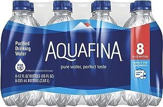 Aquafina Water, 12oz Bottle (Pack of 8, Total of 96 Oz)
