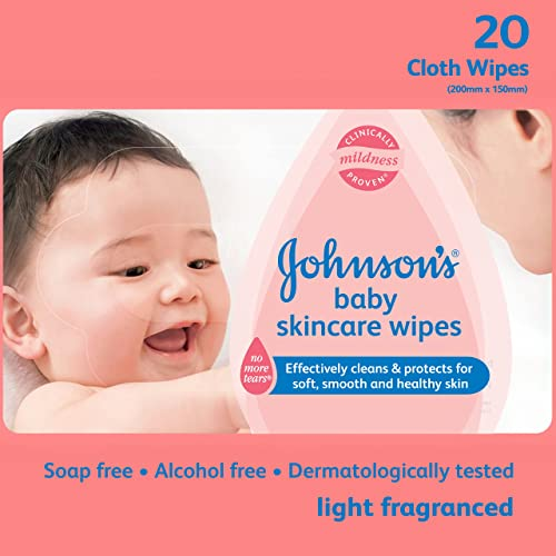 Johnson's Baby Wipes (20 wet wipes)
