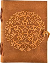 Urban Leather Celtic Star Journal - Vintage Handmade Leather Journal - Sketchbook, writing notebook for your travel stories