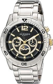 Akribos XXIV Men's AK574SS Conqueror Swiss Quartz Divers Multi-function Watch