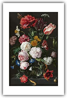 The Ibis Print Gallery - Jan. Davidsz. de Heem : ''Still Life with Flowers in a Glass Vase'' (1650-1683) - Giclee Fine Art Print