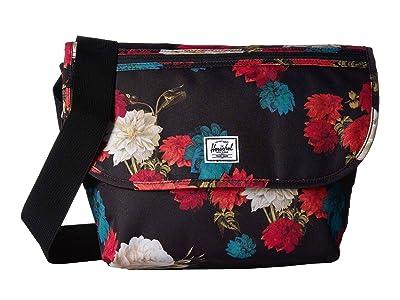 Herschel Supply Co. Grade Mid-Volume (Vintage Floral Black) Messenger Bags