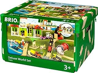 Brio World Set Deluxe, 122 Pieces, Accessories for Wooden Train, Railway, Multi-colored, Wood / Plastic, 11.38 cm, 33870