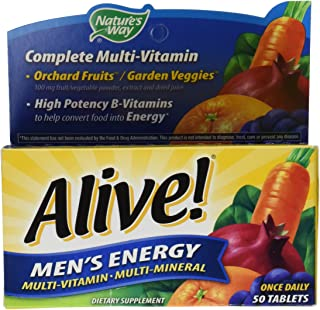 Alive! Men's Energy Once Daily Multivitamin and Multimineral 50 Tablets
