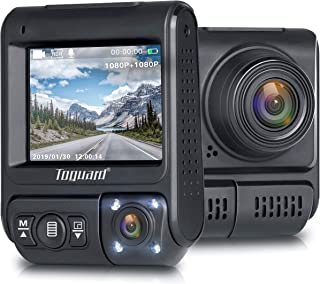 Máy thâu hình đặt trên xe ô tô – TOGUARD Uber Dual Dash Cam Infrared Night Vision Car Driving Recorder FHD Dual 1920x1080P Front and Cabin Dash Camera 2″ 330° Car Camera with Sony Sensor, WDR, Motion Detection for Car Taxi Truck
