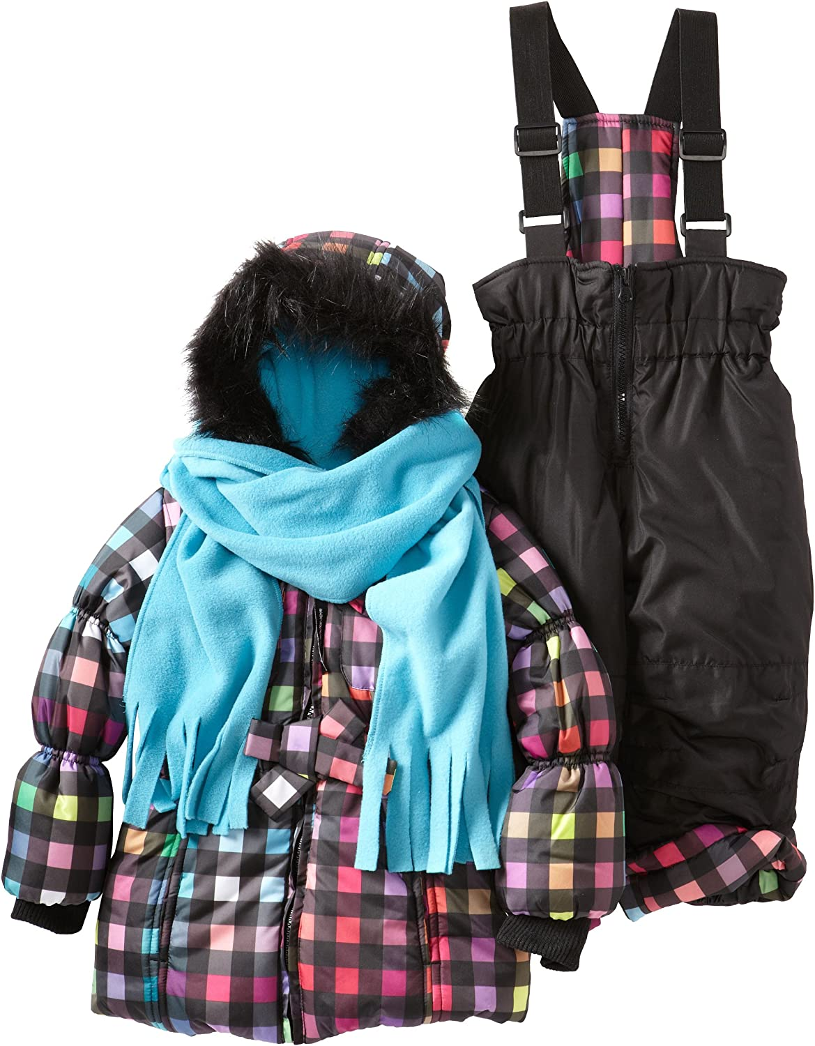 Rothschild Little Girls' Novelty Print Snowsuit with Bow