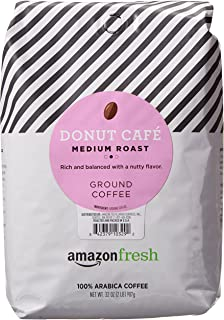 AmazonFresh Donut Cafe Ground Coffee, Medium Roast, 32 Ounce