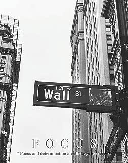 Stock Market Motivational Poster Art Print 11x14 Focus Warren Buffett Chicago New York Stock Exchange Wall Street