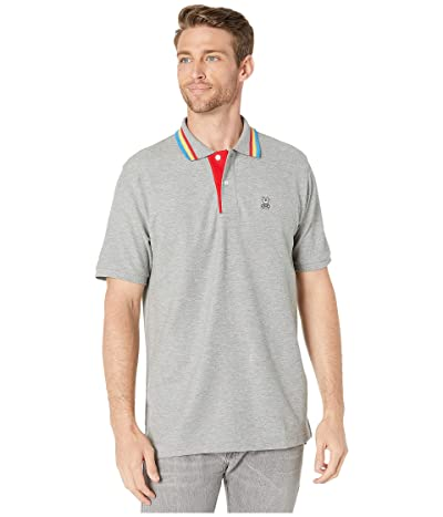 Psycho Bunny Shortlands Polo (Heather Grey) Men