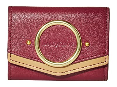 See by Chloe Aura Mini Leather Wallet (Sienna Rose) Wallet Handbags