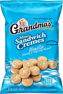 Grandma's Mini Cookies, Vanilla Crème, 3.71 Ounce (Pack of 24)