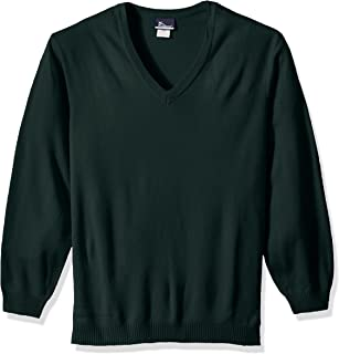 Classroom School Uniforms Men's Plus Size Adult Unisex Long Sleeve V-Neck Sweater 2xl-3xl