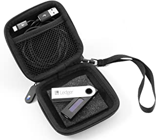 CASEMATIX Carry Case For Cryptocurrency Bitcoin Hardware Wallet Fits Ledger Nano S , Satoshi Labs Trezor the Bitcoin Safe , USB Cable and Compact Accessories