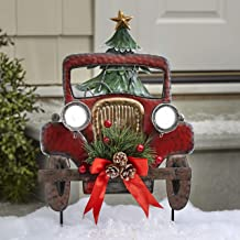 Amazon Com Red Truck Christmas Decor