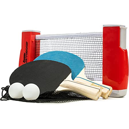 Ping Pong Set Portable Table Tennis Set with Retractable Net Indoor Outdoor Play admired Popular,Premium Storage Case Portable Table Tennis Set with Retractable Net