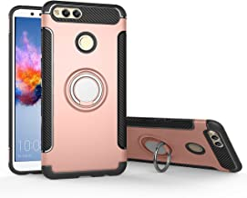 Orzero TPU + PC Hybrid Dual Layer Case for Huawei Honor 7X, Huawei Mate SE Full Body Heavy Duty Protection 360 Rotating Me...