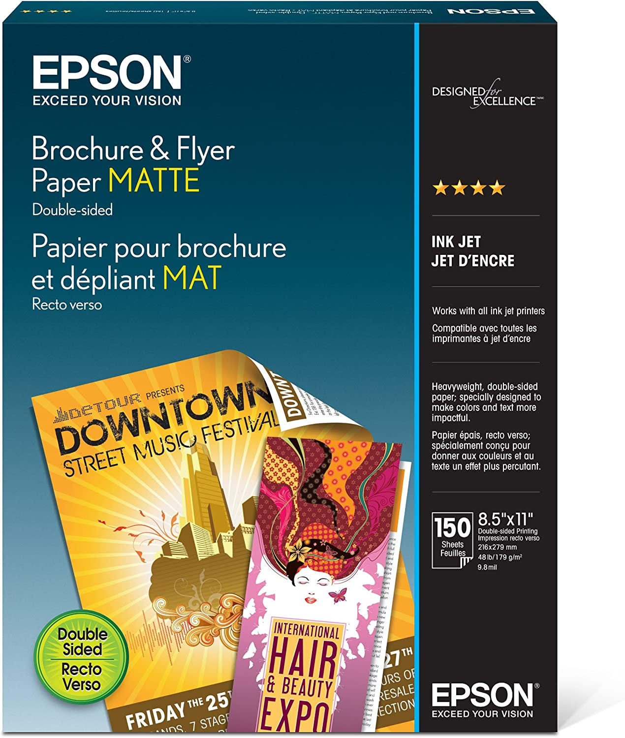 Epson Brochure Tampa Mall and New popularity Flyer Paper Matte S042384 Double-Sided