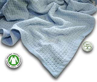 Zoog Organic Cotton Toddler Blanket Natural Dye Premium Quality GOTS Certified Non-Chemical Non-Toxic 100% Organic Cotton Soft Knitted 31