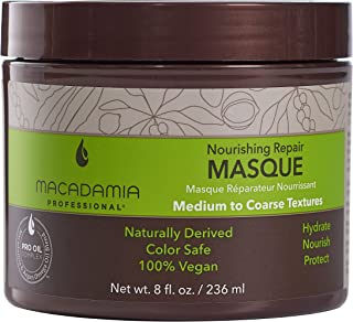 Macadamia Professional Hair Care Sulfate & Paraben Free Natural Organic Cruelty-Free Vegan Hair Products Nourishing Repair Hair Masque-Replenishes Moisture, Strengthens & Improves Elasticity-8 FL Oz