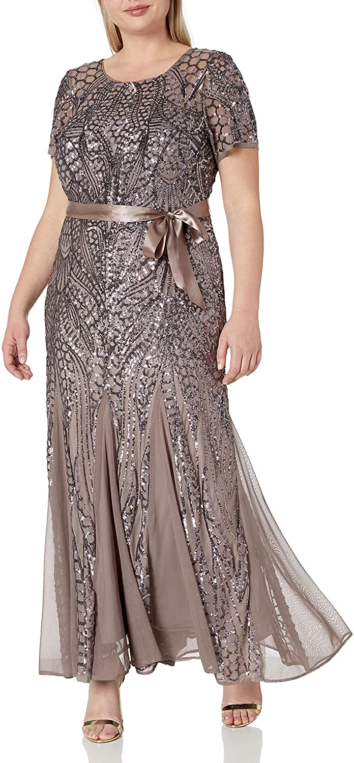 RM Richards Women's Plus Size Gown Long Award-winning store At the price of surprise Beaded
