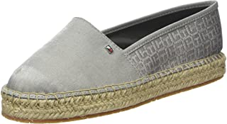 Tommy Hilfiger Pattern Espadrille Womens Shoes Metallic