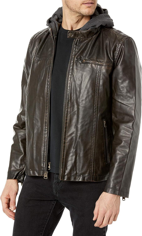men's pleather jacket