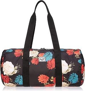 Packable Duffle Duffel Bag, Vintage Floral Black, One Size