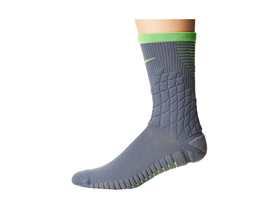 Nike Strike Hypervenom Crew Football Socks (Armory Blue/Green Strike) Crew Cut Socks Shoes