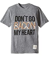 The Original Retro Brand Kids - Don't Go Bacon My Heart Short Sleeve Tri-Blend Tee (Big Kids)