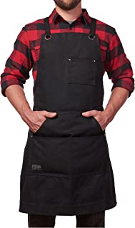 Hudson Durable Goods – Heavy Duty Waxed Canvas Work Apron with Tool Pockets..