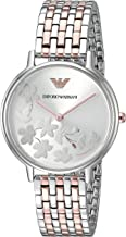 Emporio Armani Women's Fashion Quartz Watch with Stainless-Steel Strap, Rose Gold, 14 (Model: AR11113)